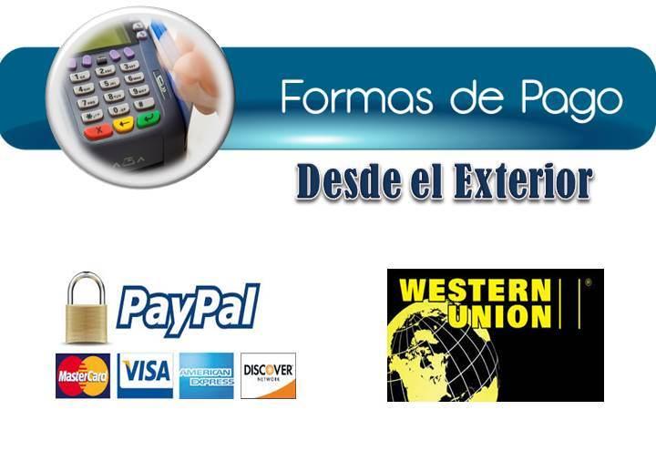 Opciones de pago desde el exterior